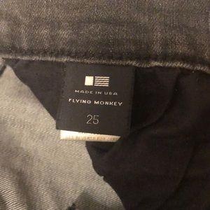 Flying Monkey Jeans - Flying Monkey dark grey denim jeans size 25